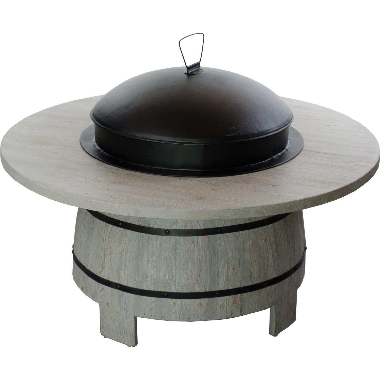 fass grill aufsatz feuerkorb grau barrel world. Black Bedroom Furniture Sets. Home Design Ideas